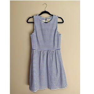 J. Crew blue and white striped dress